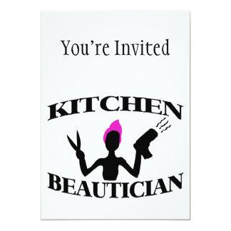 Küchebeautician-zu Hause Stylist 12,7 X 17,8 Cm Einladungskarte