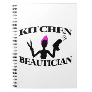 Küchebeautician-zu Hause Stylist Spiral Notizblock
