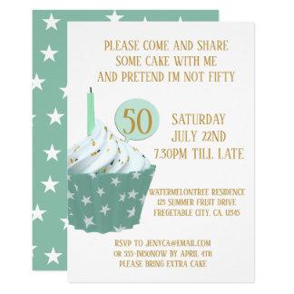 Kuchen-50. Geburtstags-Party Einladung