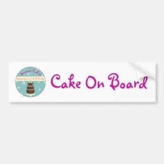 Kuchen an Bord Autoaufkleber