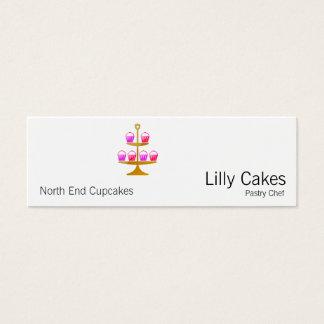 Kuchen-Anzeige Mini Visitenkarte