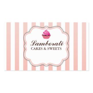 Kuchen-Bäckerei-Rosa-niedliches elegantes modernes Visitenkarten