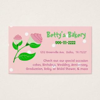 Kuchen-Blumen-Geschäfts-Karte u. Kupon Visitenkarte