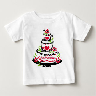 Kuchen-Dekorateur auf hübschem Tiered Kuchen Baby T-shirt