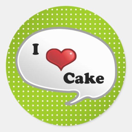 Kuchen der Liebe I Stickers