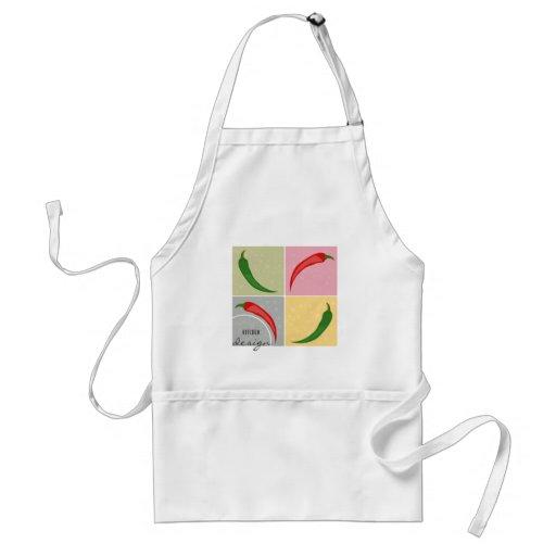 Küchen-Entwurf - heiße Chili-Pfeffer-Schürze