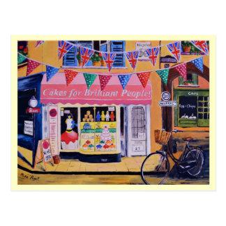 Kuchen für glänzende Leute Postkarte