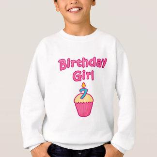 Kuchen-Geburtstags-Mädchen 7 Sweatshirt