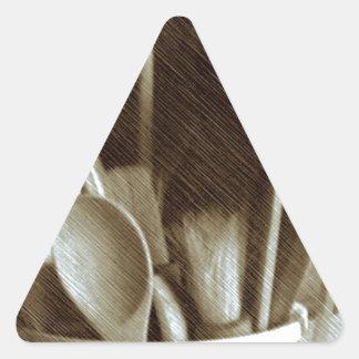 Küchen-Geräte Dreieckiger Aufkleber