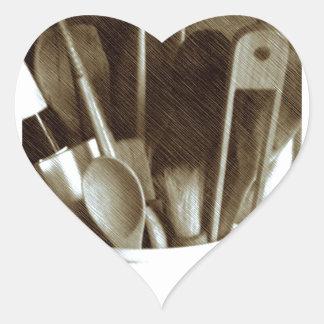 Küchen-Geräte Herz-Aufkleber