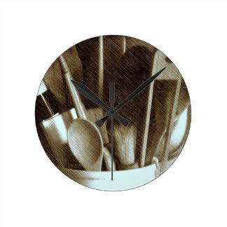 Küchen-Geräte Runde Wanduhr