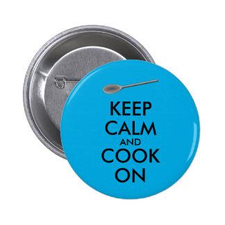 Küchen-Geschenke behalten Ruhe und kochen auf Runder Button 5,7 Cm