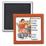 Küchen-glücklicher lustiger Magnet-Spaß Kühlschrankmagnet