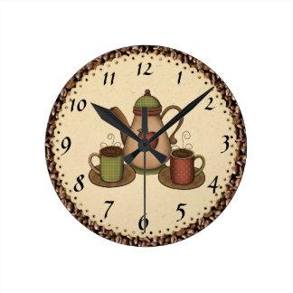 Küchen-Kaffeeuhr Runde Wanduhr