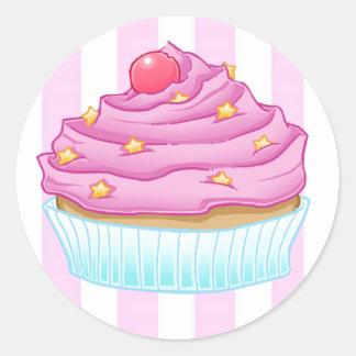 Kuchen-Liebe Runde Aufkleber