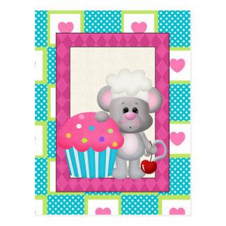 Kuchen-Mäusepostkarte Postkarten