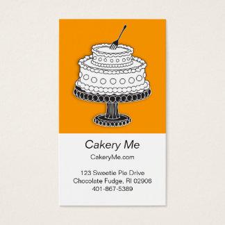 Kuchen mit der Gabel bereit! Visitenkarte