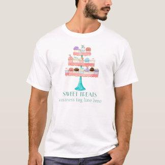 Kuchen-Nachtisch-Backen-Bäckerei-Geschäfts-Uniform T-Shirt