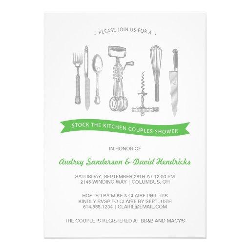 Küchen-Paar-Dusche Personalisierte Einladung