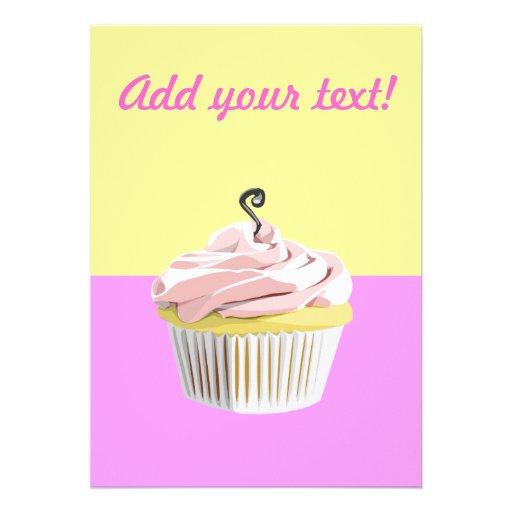 Kuchen-Party laden ein Personalisierte Ankündigungskarten