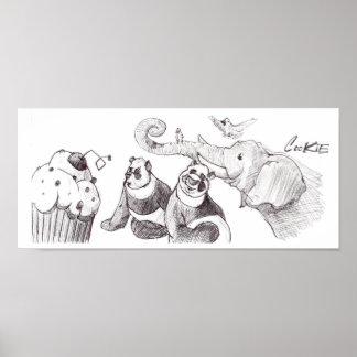 Kuchen-Party Plakatdrucke