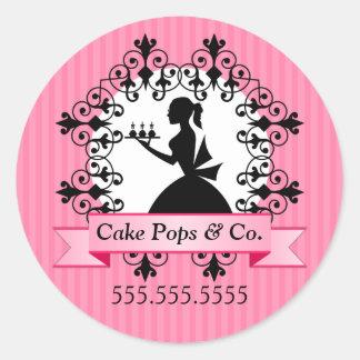Kuchen-Pop-Bäckerei-Aufkleber Runder Aufkleber