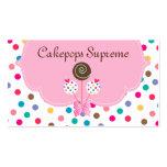 Kuchen-Pop-Geschäfts-Karten-Polka-Punkt-rosa Minze Visitenkarten