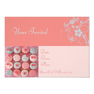 Kuchen-Schmetterling 12,7 X 17,8 Cm Einladungskarte