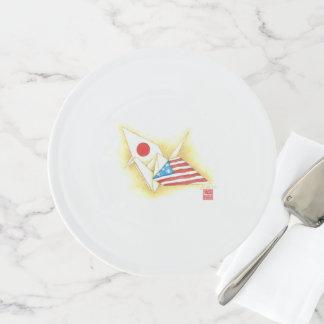 Kuchen-Stand ~ Japan-USAfreundschaft Tortenplatte