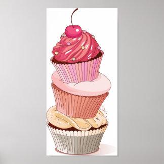 Kuchen-Stapel-Plakat