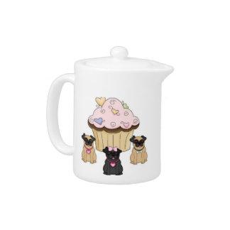Kuchen-süße Mops-Hunde
