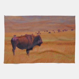 Küchen-Tuch-Western-Büffel-wild lebende Tiere Handtuch