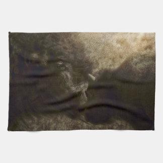 Küchen-Tuch-Western-Büffel-wild lebende Tiere Küchentuch