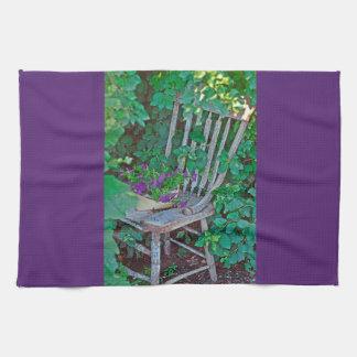 Küchen-Tuch-Western-Petunie-Stuhl Handtuch