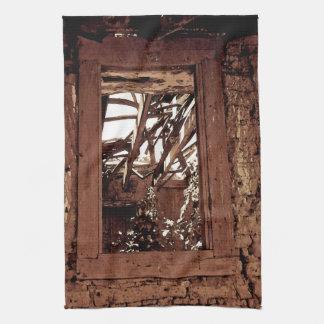 Küchen-Tuch-Western-rustikales Scheunen-Fenster Handtuch