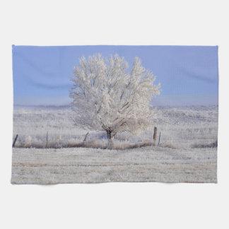Küchen-Tuch-Western-Winter-Baum-Landschaft Handtuch