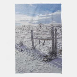Küchen-Tuch-Western-Winter Fenceline Geschirrtuch