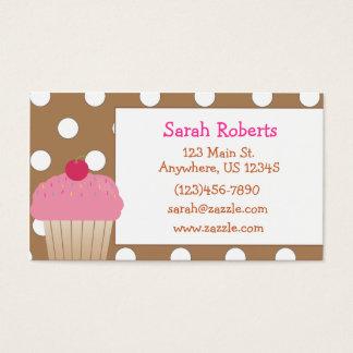 Kuchen-Tupfen-Telefonkarte Visitenkarte