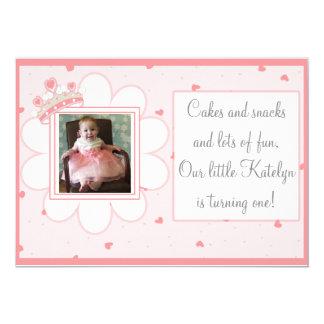 Kuchen u. Imbisse und Lose Spaß, erster Geburtstag 12,7 X 17,8 Cm Einladungskarte