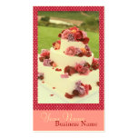 Kuchen-Visitenkarten