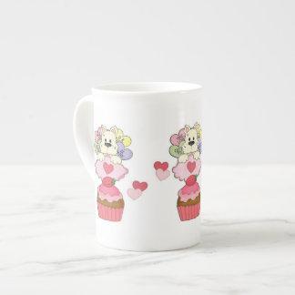 Kuchen-Welpen-Valentinsgrüße Porzellantasse