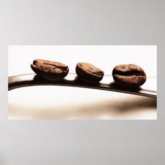 Küchenbild - Die Drei Kaffeebohnen Poster