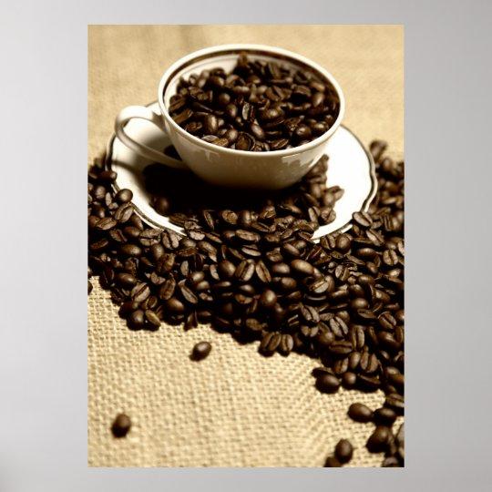 Küchenbild Kaffeetasse Poster