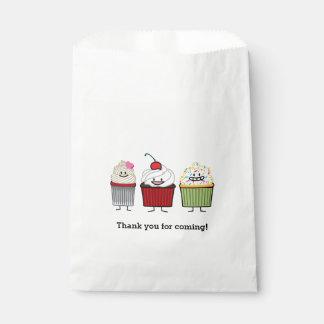 Kuchenfamilien-Zuckerguss besprüht Kirschkuchen Geschenktütchen