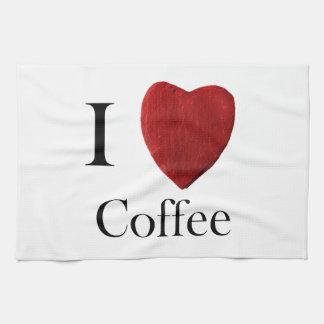 Küchenhandtuch I love Coffee Geschirrtuch