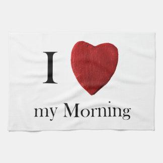 Küchenhandtuch I love my Morning Handtuch