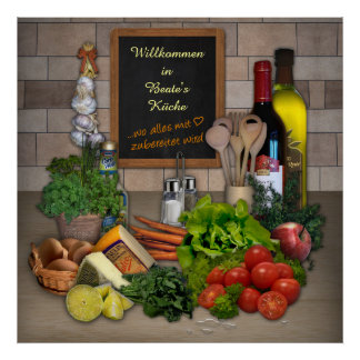 Küchenposter mit Deinem Namen Poster