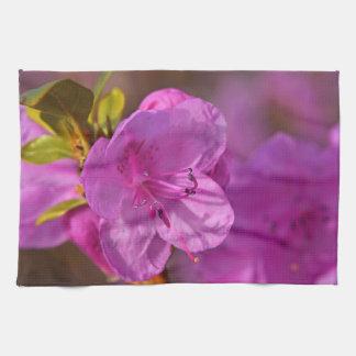 Küchentuchdruck mit rosa Azaleen-Blume Handtuch