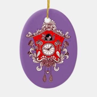 Kuckucksuhr Keramik Ornament