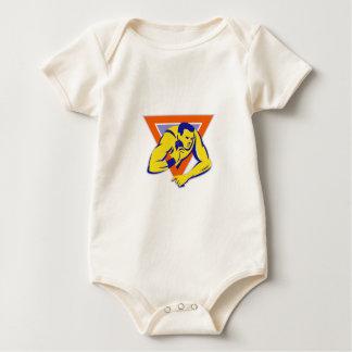 Kugelstoßen-Wurfs-Leichtathlet Baby Strampler